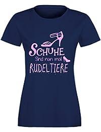 Schuhe sind nun mal Rudeltiere - Damen Rundhals T-Shirt