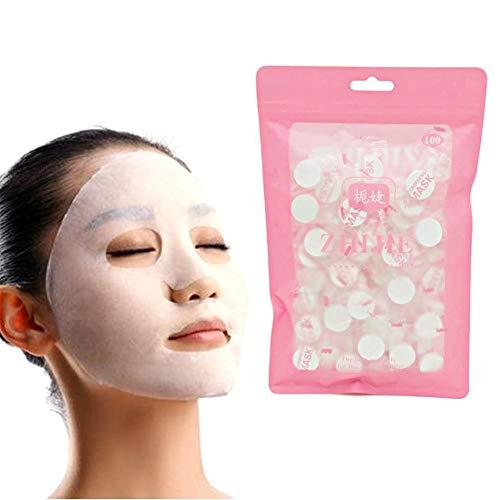 Ablerfly Druckmaske Papier, 100 stücke Reiner Baumwolle Haut Gesichtspflege DIY Gesichtspapier Komprimieren Masque Maske -