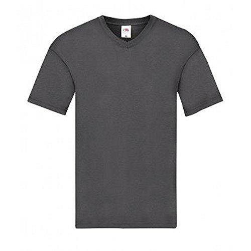 Fruit of The Loom Original Original V Ausschnitt T-Shirt (L) (Hell Graphit)
