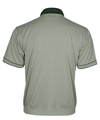 Blousonshirts Poloshirts mit kurzen Ärmeln einfarbige Polohemden Herren M/5XL Olive