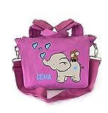 2in1 Kindergartenrucksack mit Namen | Motiv Elefant & Eule Herzen rosa türkis | Kindergartentasche Kinderrucksack Rucksack Kinder Mädchen | Personalisieren & Bedrucken