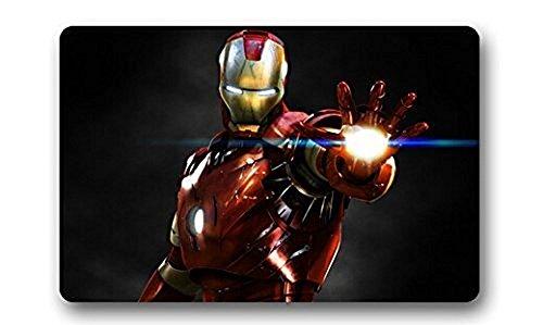 Custom Iron Man Marvel Comics di tappetini da bagno zerbino Indoor/Outdoor Doormat tessuto 59,9x 39,9cm