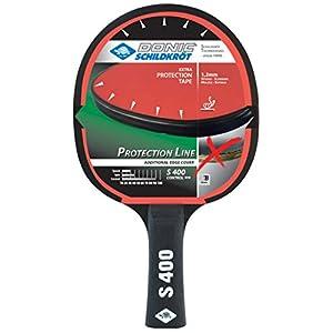 Donic-Schildkröt Tischtennisschläger Protection Line S400, mit Schutz gegen Belag-Abzupfen, 1,2 mm Schwamm, Jade – ITTF Belag, 703055
