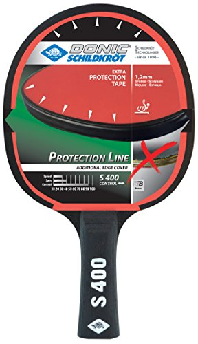 Donic-Schildkröt Tischtennis-Schläger Protection Tischtennisschläger, Mehrfarbig, S400