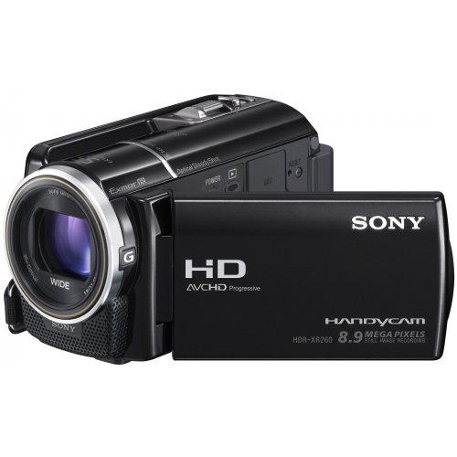 Sony HDR-XR260VE Full-HD Camcorder 160GB (7,5 cm (3 Zoll) LCD-Display, 30x opt. Zoom, 8 Megapixel, 29mm Weitwinkel, bildstabilisiert)
