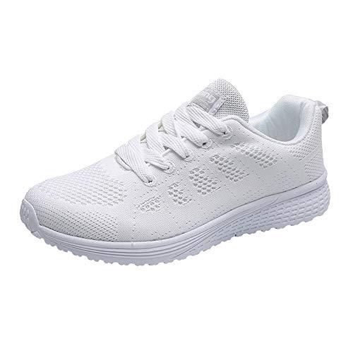 huhe Unisex Damen Herren Laufschuhe Sportschuhe Gym Turnschuhe Freizeitschuhe Atmungsaktiv Running Sneaker Low Top Schnürschuhea Mesh Outdoor Shoes ()