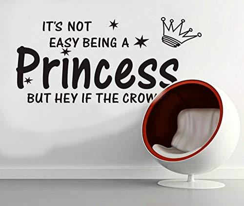 Wandaufkleber, Crown Sterne Princess Zimmer Wandaufkleber wasserdicht Aufkleber PVC -