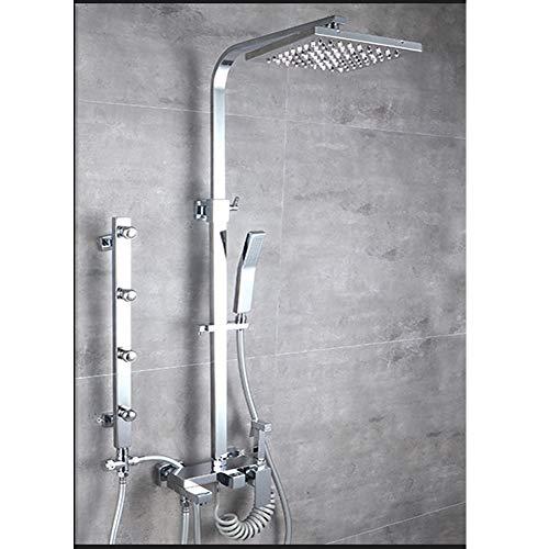 Preisvergleich Produktbild Duschset,  Multifunktionsdusche,  Haushaltskupferdusche,  Regenduschset,  Duschset,  Lift-Booster-Dusche,  Multifunktionsdusche, -Silver1
