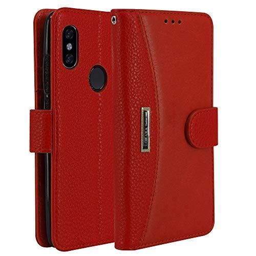 LOKAKA Leder Handyhülle für Huawei P Smart 2019, Handyhülle Handystand Kartenfächern A