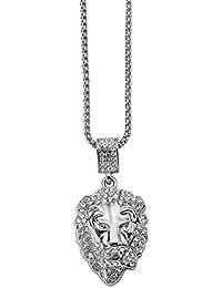 644e6f0dbdc4 CACTUS88 Moda 2 colores oro plateado exagerado cristales león estilo colgante  collar