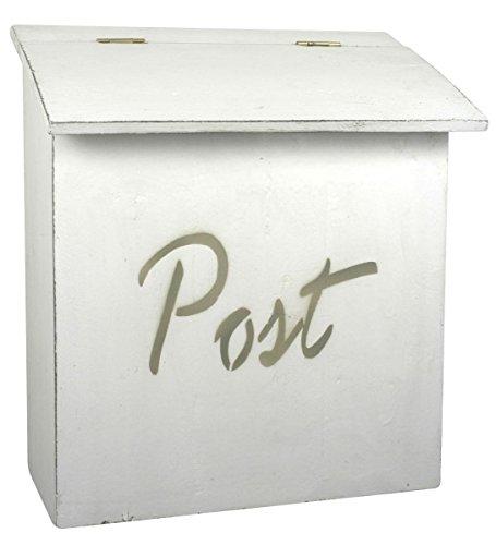 """Ib Laursen - Briefkasten """"Post"""" Weiß aus Holz (2213-11)"""