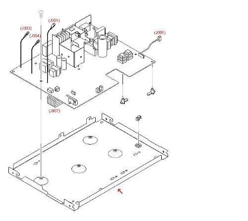 HP RA0-1127-000CN Unterstützung Pan (Case) für Den Motor Controller PC Board (Hp Networking)