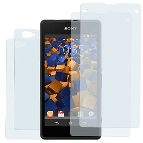 4x mumbi Schutzfolie für Sony Xperia Z1 Compact Folie Displayschutzfolie (2 x VORNE und 2 x RÜCK Folie)