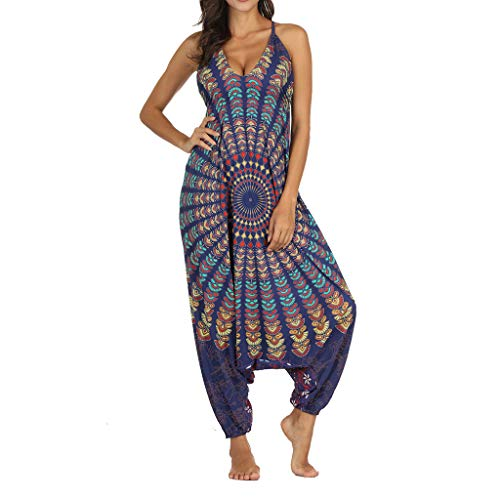 psuit Lange Sommer Lose Gym Yoga Gypsy Jogging Baggy Palazzo Harem Hosen V-Ausschnitt Ärmelloses Elegant Party Overall, Frauen Casual Strampler Playsuit Spielanzug Womens Rompers ()