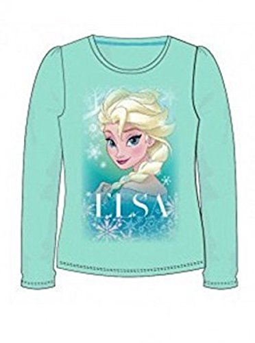 mshirt Die Eiskönigin Mädchen T-Shirt Pullover Anna und Elsa (122, Türkis) (Disney Frozen Elsa Kind Hoodie)