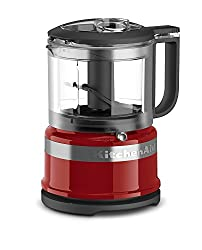Empire Red : KitchenAid KFC3516ER 3.5 Cup Mini Food Processor, Empire Red