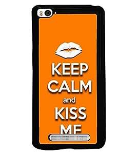 Fuson Designer Back Case Cover for Xiaomi Mi 4i :: Xiaomi Redmi Mi 4i (lips puppy smooch Hoth oth )