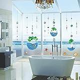Gleecare Wandaufkleber Tröpfchen Kugel Ocean World abnehmbare Wasser Schlafzimmer Klarsichtfolie Tapete