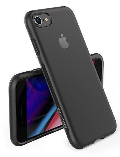 Kamera-tasche Versteckte (iPhone 8 7 Hülle, [Unterstützt kabelloses Laden (Qi)] Anker KARAPAX Touch Case, aus weiche TPU [Slim Fit] für iPhone 8 (2017) / iPhone 7 (2016)-Schwarz)