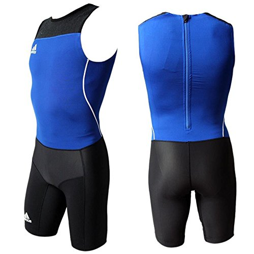Adidas WL Suit M Herren Leichtathletik Weightlifting Einteiler Anzug Overall blau-schwarz (Overall Fr)