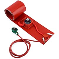 D&F Calentador de Tambor de Silicona Aislado Termostato Giratorio Ajustable 53 galones / 200 litros Barril de Grasa Calentador,20l/200 * 860mm/800w