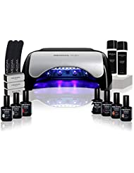 Kit manucure vernis semi permanent ✦ 6 Vernis à ongles & Lampe UV / LED 48W Ruby - Coffret Ruby - Cruelty free ✦ Méanail Paris