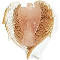 Reiki heilende Energie geladen Rosenquarz Kristall Engel (5cm) in weiß Engel Flügel Gericht preisvergleich bei billige-tabletten.eu