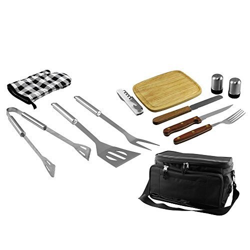 Fine Life 12-Piece BBQ Set with Built-In Cooler Bag by Fine Life (In Built Bbqs)