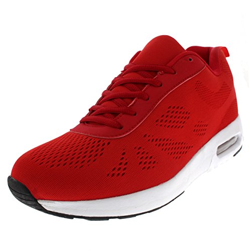 Damen Gepolstert Laufen Gehen Sport Fitness Fitnessstudio Sportlich Ausbilder - Rot/Weiß - UK5/EU38 - BS0190 - Neueste Schuhe Nike Damen
