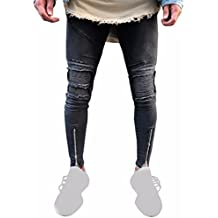 para alto termicos Pantalón hombre talle rotos fit pantalone hombre slim vaqueros Sannysis elegantes vestir Vaqueros pantalones Jeans de pantalón Hombre 17Iq7