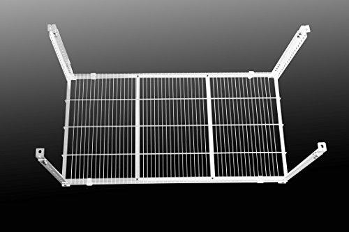 Storewonder© scaffale bianco da soffitto, garage, cantina, in metallo, sistema di appendiabiti, facile fare di nuovo spazio! trasformate un posto inutilizzato in uno spazio prezioso!