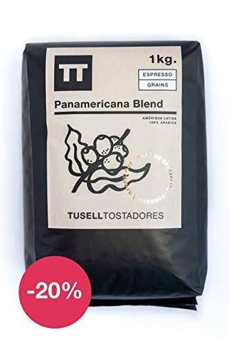 Cafe en grano natural 1kg arabica 100 % - Espresso - Panamericana Blend - Tusell Tostadores