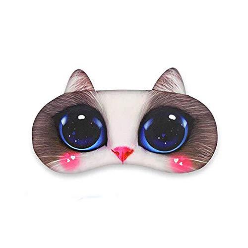 3D-Schlafmaske, niedliche Tier-Schlafmaske, lustige Katze, Mops, Hunde-Form, Reise, Schlafmaske für Jungen und Mädchen, Eisbeutel im Lieferumfang enthalten