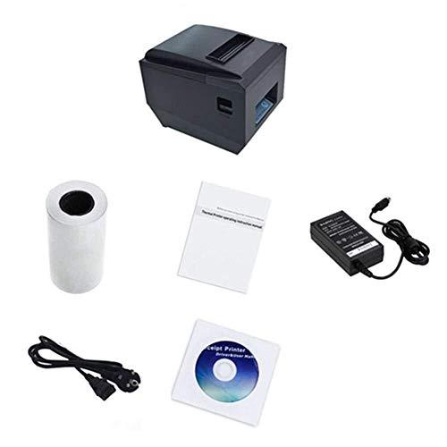 Tragbar Thermobondrucker 80 mm Tragbare, wasserdichte, ölbeständige USB-Netzwerkschnittstelle Serielle Schnittstelle 3 Kleiner Drucker for den Einzelhandel POS Catering Industrielle Steuerungssysteme