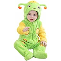 Katara 1778 - Kigurumi Mameluco Disfraz Infantil - Bebé 0-6 Meses, Escarabajo Verde-Amarillo