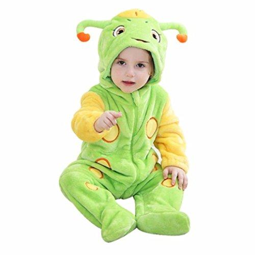 Kostüm Bis Opa - Kostüm mit niedlichen Details wie Ohren, Fühlern, Augen, lachendem Mund; Verkleidung mit Kapuze für Babys und Kleinkinder mit Reißverschluss