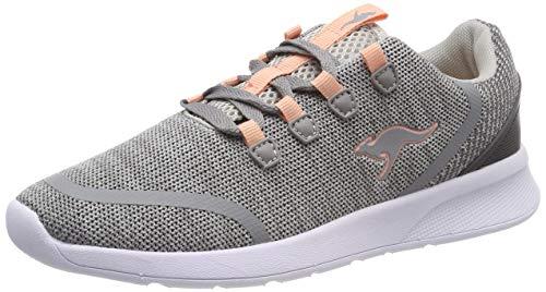 Kangaroos Leder-sneaker (KangaROOS Unisex-Kinder KF Lock Sneaker, Grau (Vapor Grey/Dusty Rose 2075), 38 EU)