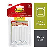 Command 17043 3 x Wire Backed Picture Hangers With Command Strips Value Pack-white