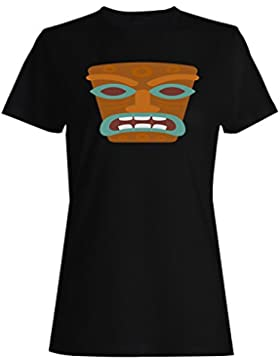 Tiki Mask Holiday Summer camiseta de las mujeres o490f