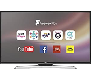 JVC 43 inch Full HD 1080p Smart LED TV Freeview HD with Freeview Play and Built-in WiFi (Catch up TV: BBC iPlayer, ITV Player, All 4, My 5, UKTV Play, Streaming: Netflix, Full internet browser, Social media: Facebook, Twitter, YouTube)