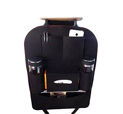 Vi.yo Auto Organizer Rückenlehne Taschen Fahrzeug multi-funktionalen nutzen Lagerung Organizer Spielraum-Speicher-Beutel-Korb Größe 39 x 57 cm (Schwarz) (Schwarz-speicher-körbe)
