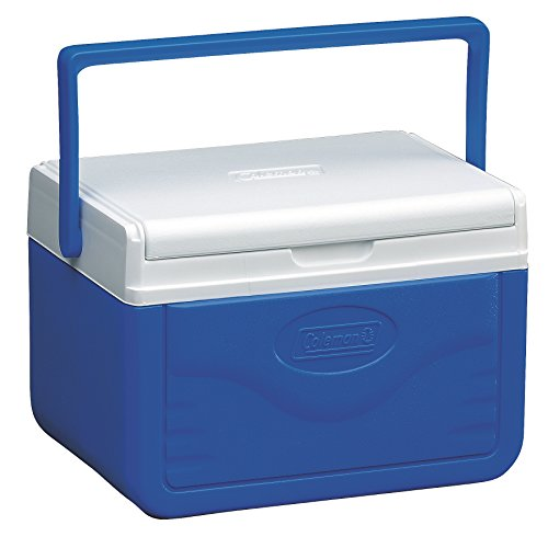 41yq0GG PYL. SS500  - Coleman Cooler 5Qt Flip Lid Blue, 4 Litre, Small Cool Box for Food and Drinks, Robust Ice Box Suitable for 6 Small Cans, Robust and Sturdy, Stays up to 9 Hours Cool, Lightweight Cooler