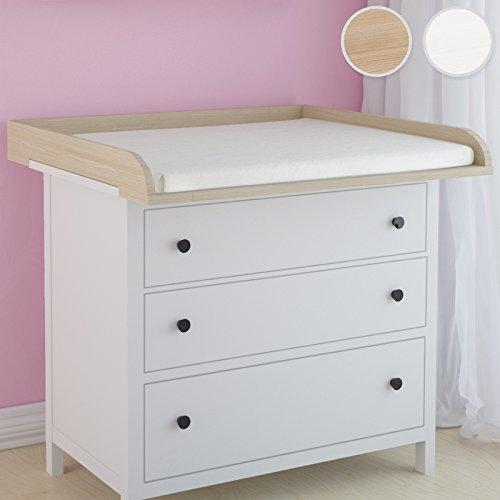 Infantastic – Mesa cambiador compatible con Hemnes de IKEA–Cómoda en 2colores marrón buche