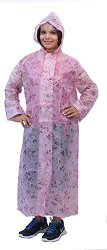 Romano Women's Pink Rainwear Windcheater Overcoat