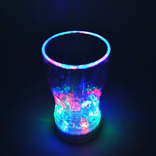 nkware Tumbler Becher Tasse Sensor Light Up Bubble Rock, Flüssigkeit aktiviert mit Batterie (Coke Cup) ()