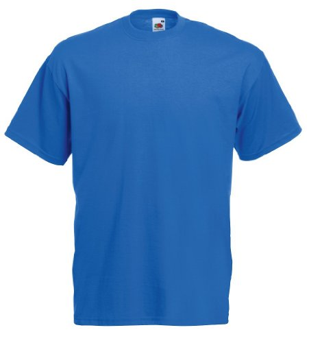Fruit of the Loom T-Shirt S-XXXL in verschiedenen Farben L,Royal (Blaues T-shirt)