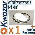 K-4 Einbaustrahler Set Inkl Gu10 230v Fassung - Nickel Matt Innox von Kwazar