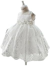 H/B color Blanco Bordado Encaje Infant Formal Vestido Niña para Comunión 1er Cumpleaños trajes 1175