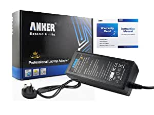 Anker® Golden Laptop AC Adapter Charger for Dell Inspiron 1525 1545 6400 6000 1520 1501 1750 1720 1564 510m; Dell Inspiron 1521 8600 640m 630m 1764 1721 1440 PP41l E1505 1420 1526 1370; Dell Inspiron 600m 1470 500m 700m PP29l E1705 1464 E1405 1464 E1405; fits DA13 PA-12 PA-17 Power Supply with UK Mains Cable [19.5V 3.34A 65W 18-month Warranty]
