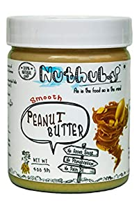 Nuthub Smooth Peanut Butter (All Natural, Unsweetened, Vegan, Gluten Free) 400 gm